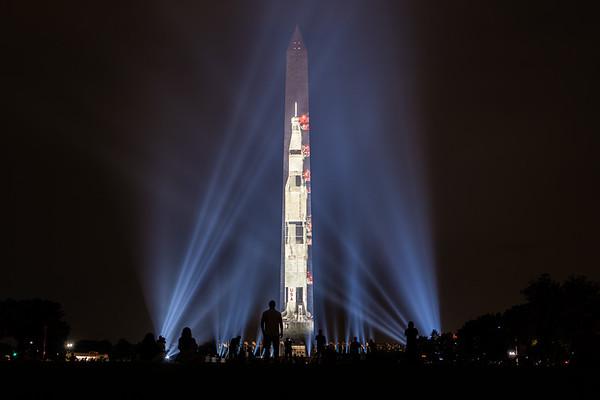 Saturn V Washington Monument Projection [Jul. 2019]