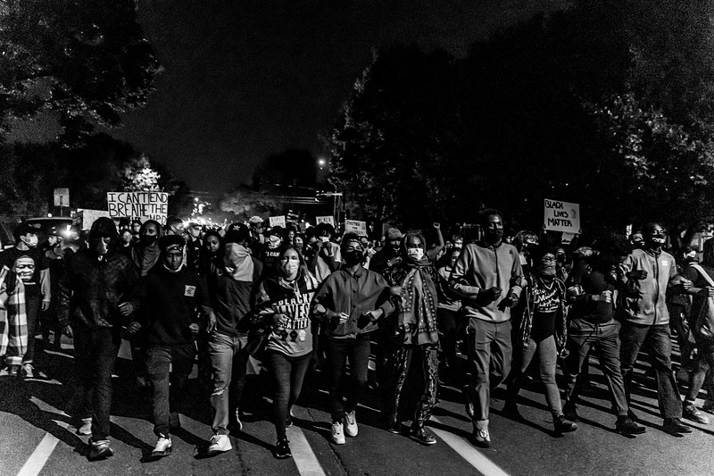 2020 10 07 Chauvin out of jail protest - BW-47.jpg