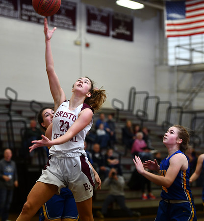 12/31/2019 MIke Orazzi | StaffrBristol Central's Ella Watson (23) during Tuesday's girls basketball game in Bristol.