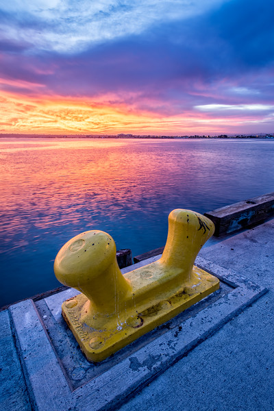 Dock Anchor at Sunset
