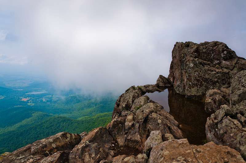 View of For on Stony Man Cliffs, Shenandoah Natiional Park, Virginia