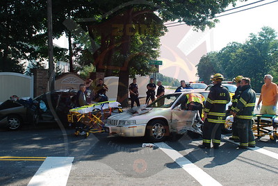 Amityville F.D. MVA w/ Entrapment County Line Rd. and Sunrise Hwy.  8/24/09