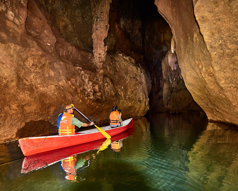 canoes in caves