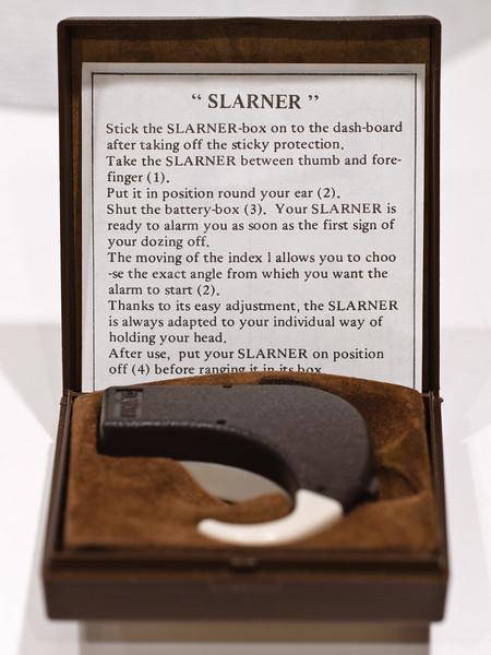 """""""Slarner"""" sleepy-driver-waker-upper.  Ar Robillard."""