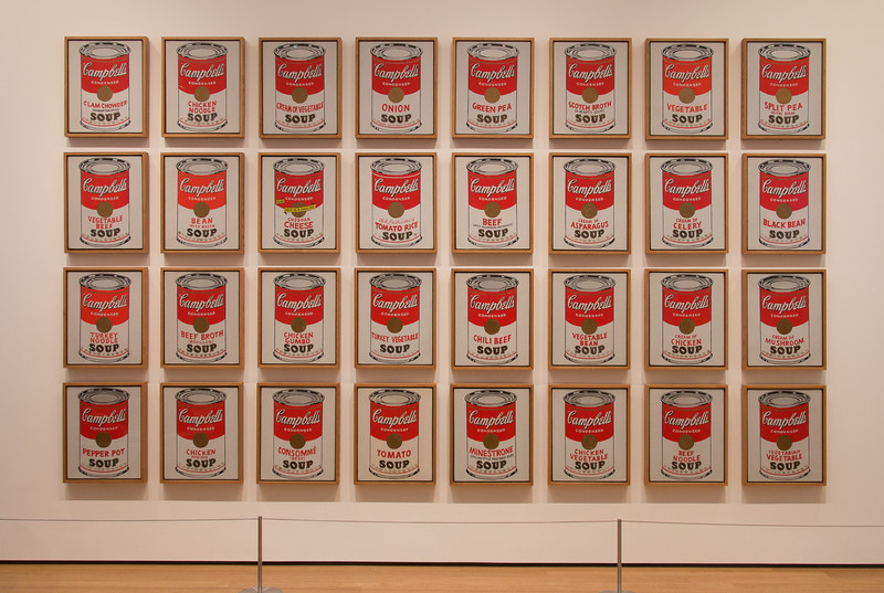 """Andy Warhol, """"Campbell's Soup Cans"""" (1962)  -- Museum of Modern Art (MoMA), New York"""