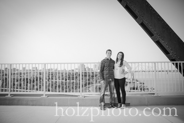 Desiree & Brett B/W Engagement Photos