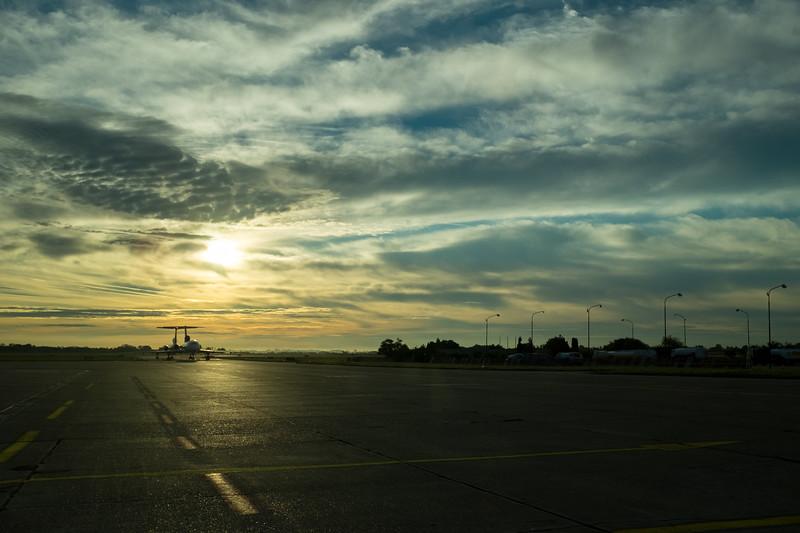 Sunrise over Tupolevs