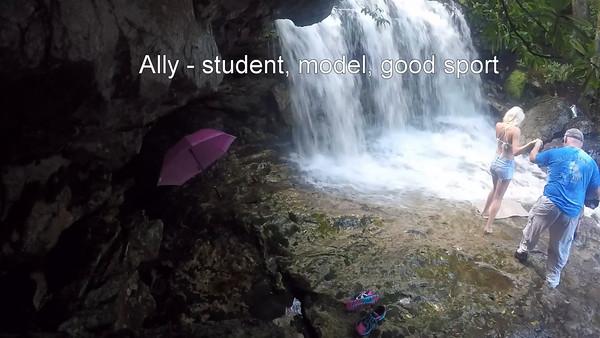 Ally at waterfalls