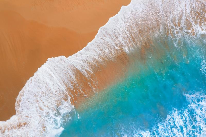Sunset beach in Oahu