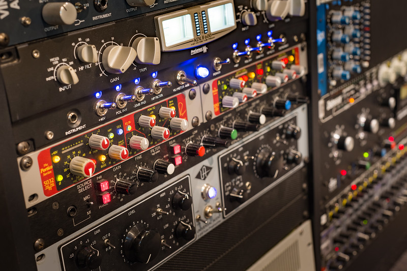 Full Sail University Audio Suite outboard gear.