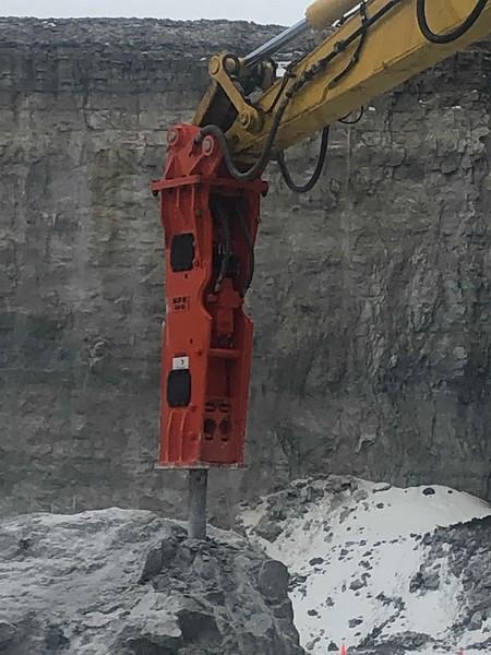 NPK GH15 hydraulic hammer on Komatsu PC490- National Lime, Carey, OH  1-19 (19).jpg
