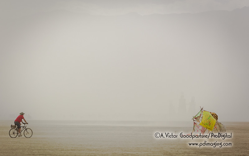 A dust storm nearly obscures Black Rock Lighthouse Service.