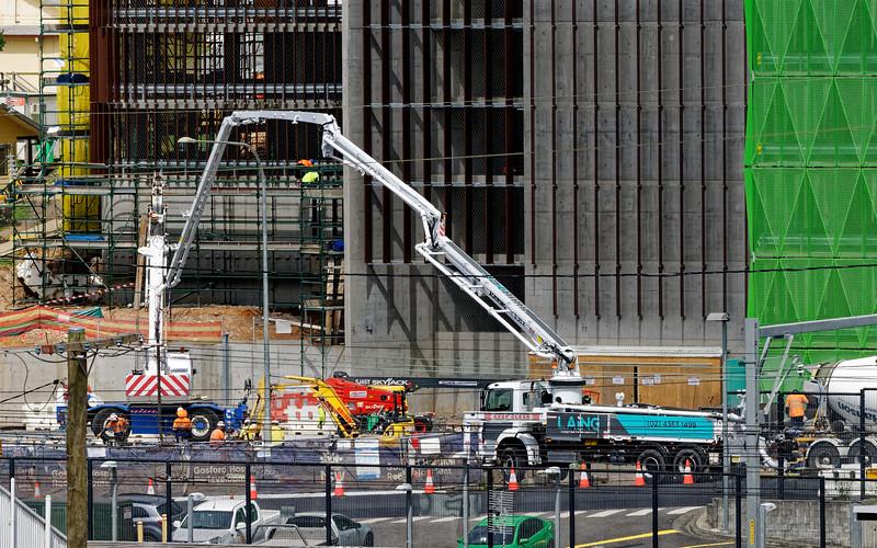 Gosford Hospital building progress December 18, 2018.  (h76ed)