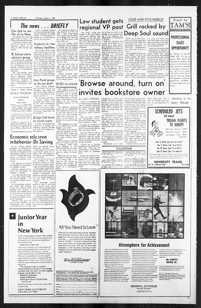 Daily Trojan, Vol. 59, No. 85, March 07, 1968