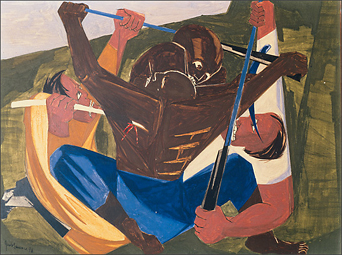 "Jacob Lawrence, ""Struggle No. 27,"" 1956"
