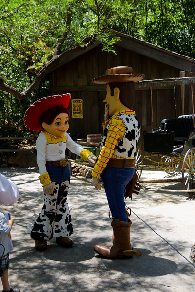 Woody & Jessie Characters in Frontierland