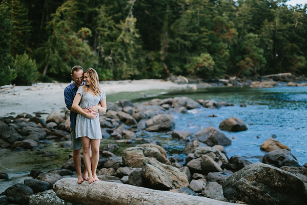 Hannah and Jeremy at East Sooke Park