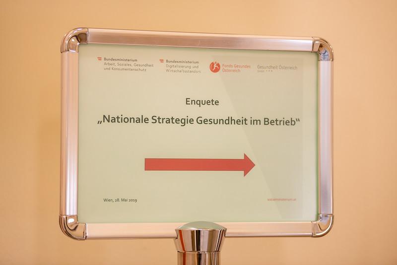 """Enquete """"Nationale Strategie Gesundheit im Betrieb"""""""