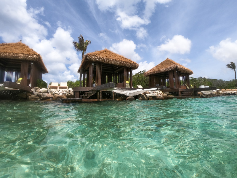 Private cabanas on Flamingo Beach in Aruba