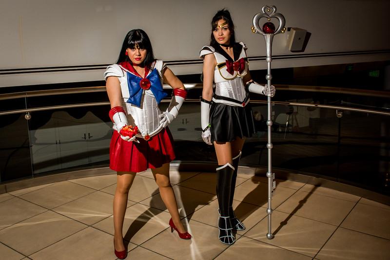 Sailor Mars and Sailor Pluto