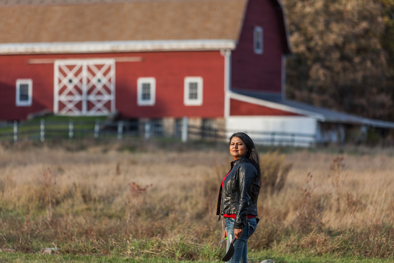 Nirmala Narine's Hudson Valley farm in New Paltz, NY. Nirmala also operates a retail store on her property, Nirmala's Kitchen. Nirmala demonstrating how her lavender is harvested on her farm.