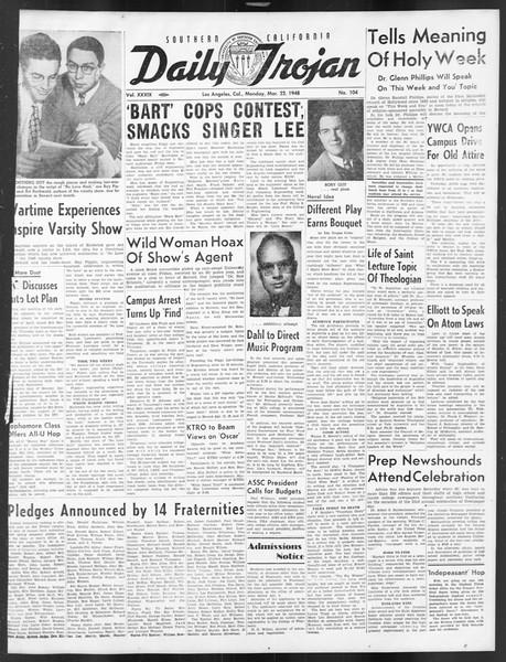 Daily Trojan, Vol. 39, No. 104, March 22, 1948