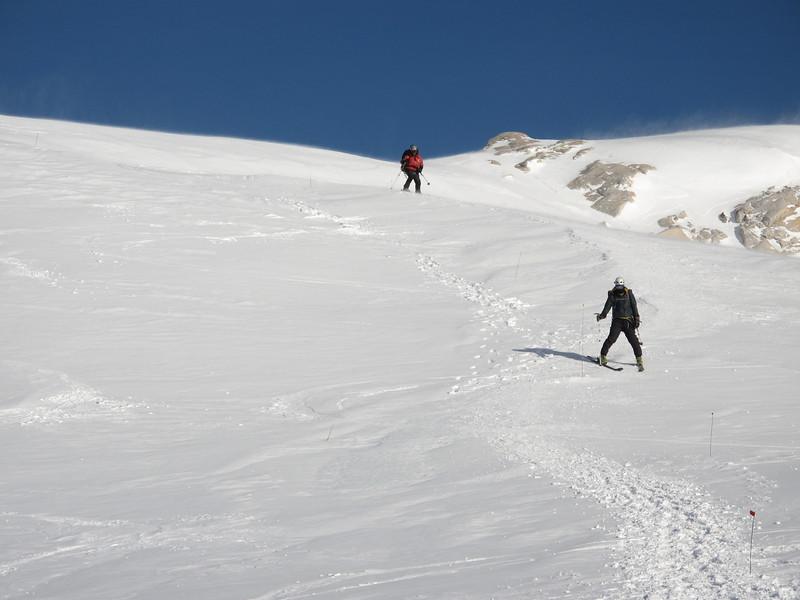 Doug and John W approaching Denali Pass...