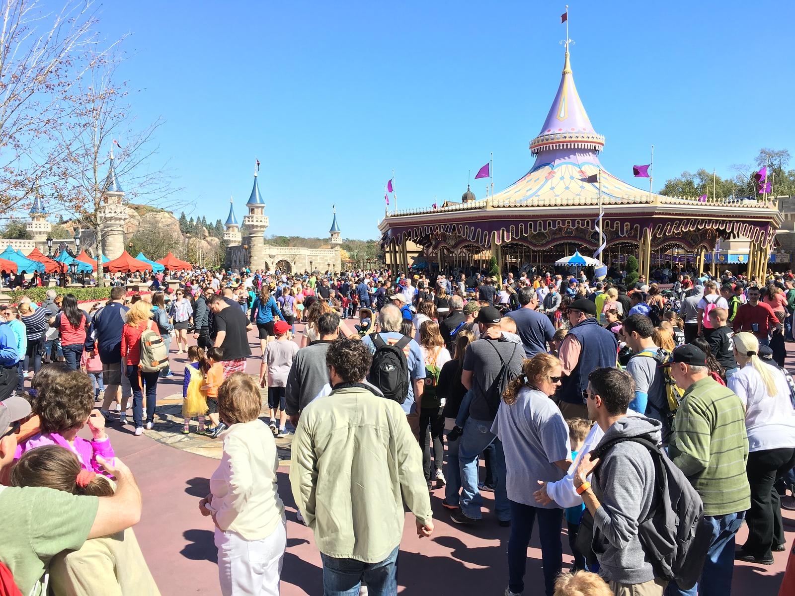Fantasyland Crowds - Walt Disney World Magic Kingdom