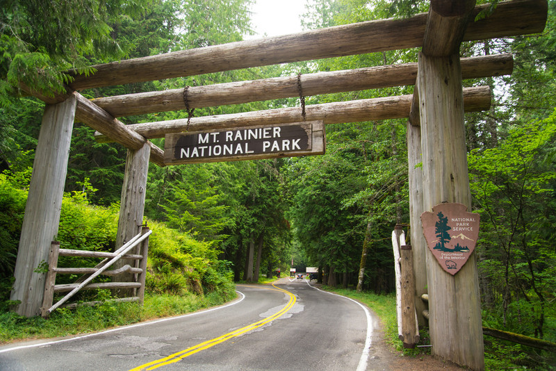 Mt. Rainier National Park entrance