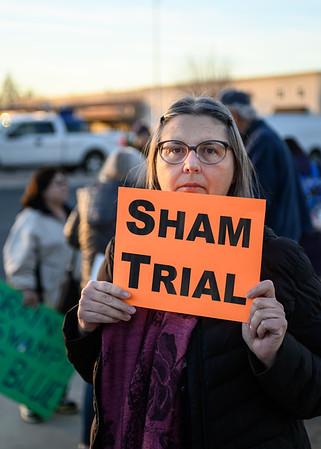 Feb 05 Rally against Trump's Acquittal:  Santa Clara