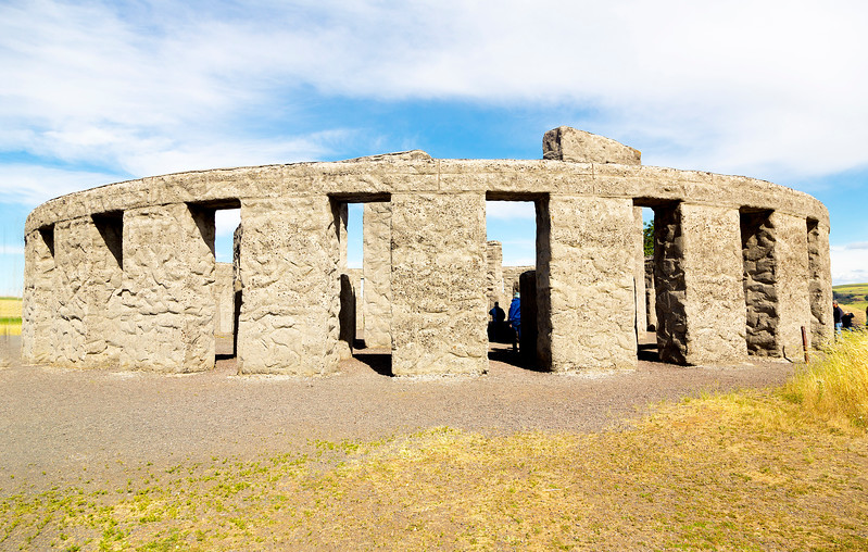 Next, we visit Sam Hill's Stonehenge replica war memorial