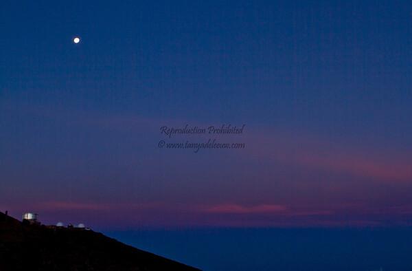 Haleakala Moonset