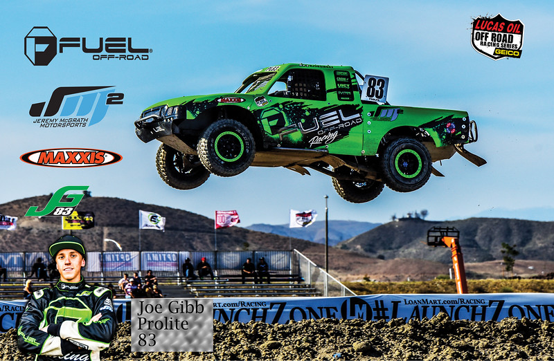 Custom poster created for Gibb Racing. Joe Gibb ProLite #83