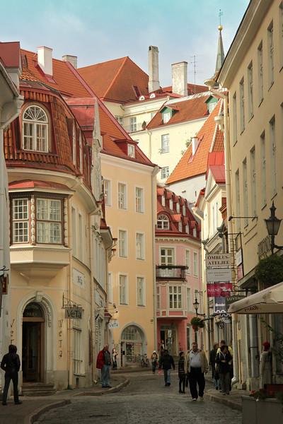 Charming Pikk Street Old Town -Tallinn, Estonia