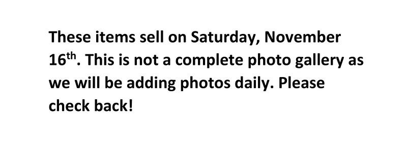 Cal/Cam Parish Auction Saturday items