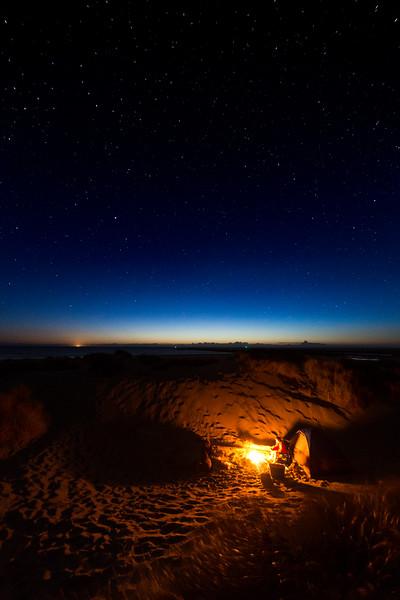 Twilight evening on the Oregon Coast