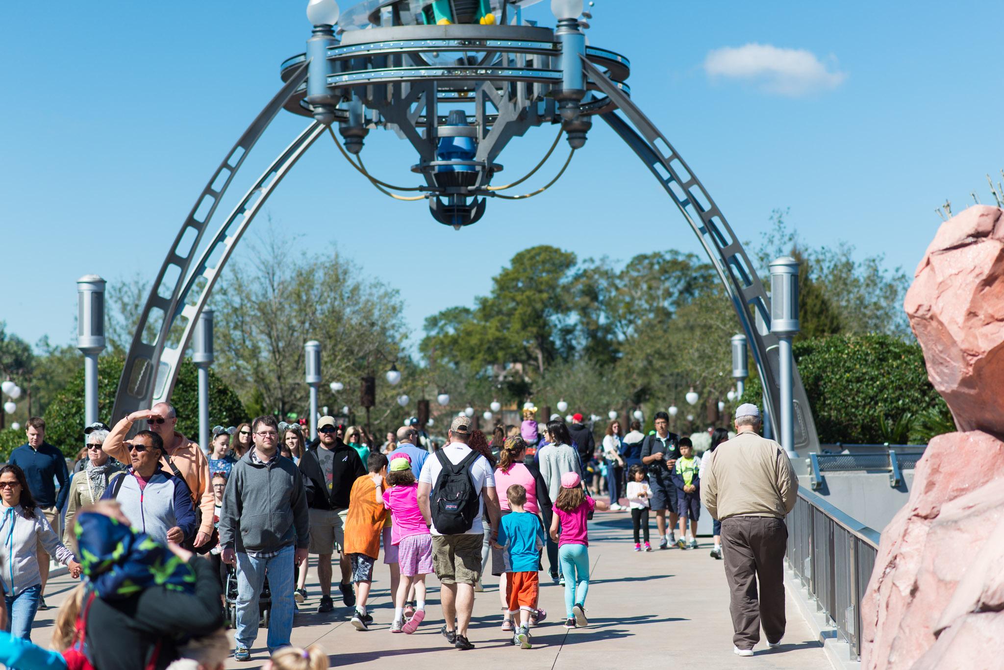 Tomorrowland Bridge - Walt Disney World Magic Kingdom