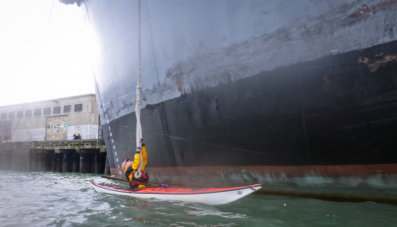 Dave offers the SS O'Brien a tug.