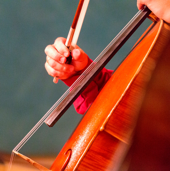 Fardet's hand playing cello
