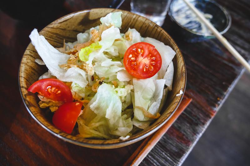 mini wedge creamy soy salad