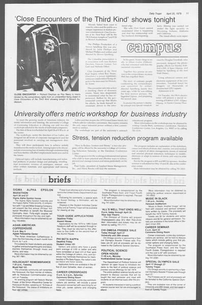 Daily Trojan, Vol. 76, No. 43, April 20, 1979