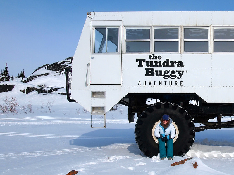 Frontiers North Adventures tundra buggy in Churchill, Manitoba