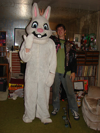 David in bunny costume Easter 2007