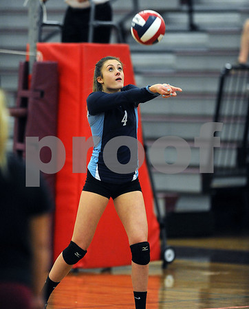 10/18/2017 Mike Orazzi | Staff Middletown's Olivia Lapham (4) during Wednesday's volleyball match at BC.