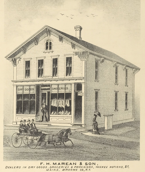 Maine, NY Ketchum Hotel & Marean Burials
