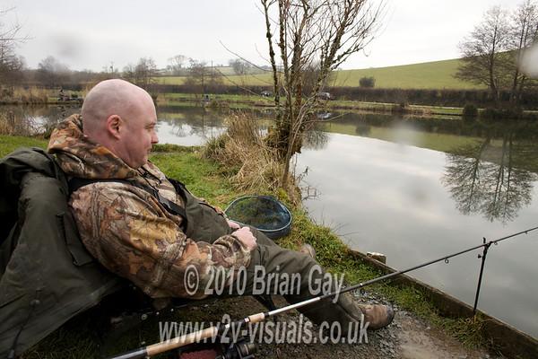 Tony Latter waits for a bite .© 2010 Brian Gay