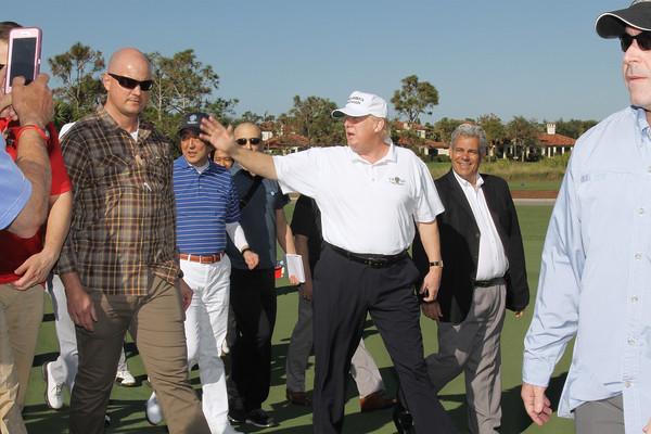 President  Donald J. Trump with Japan's Prime Minister Abe - Trump National Jupiter - February 11th, 2017