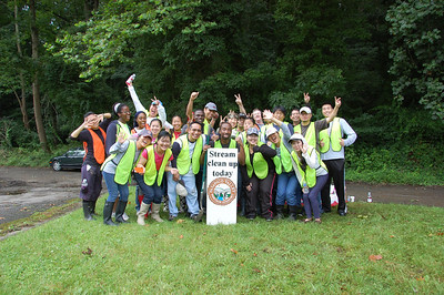 7.13.13 Patapsco River cleanup in the Avalon section w/ Agape Mission Church