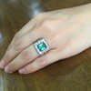 1.60ctw Emerald and Diamond Cocktail Ring 1