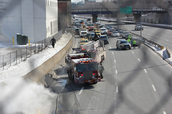 Boston. Truck Fire 02-08-2014